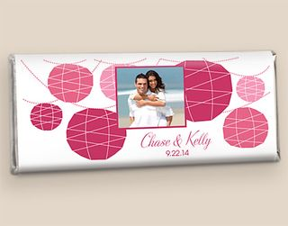 Summer Wedding Chocolate Bar Favor