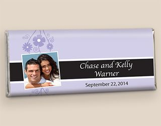 Spring Theme Wedding Chocolate Bars