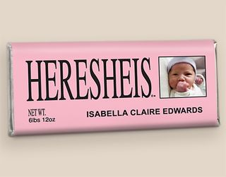 Personalized Heresheis Birth Announcements for Girl